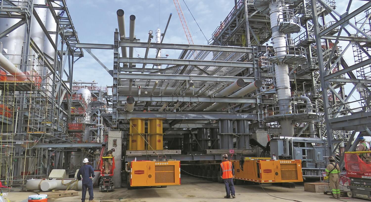 Crane Service for Expanding Chemical Plant