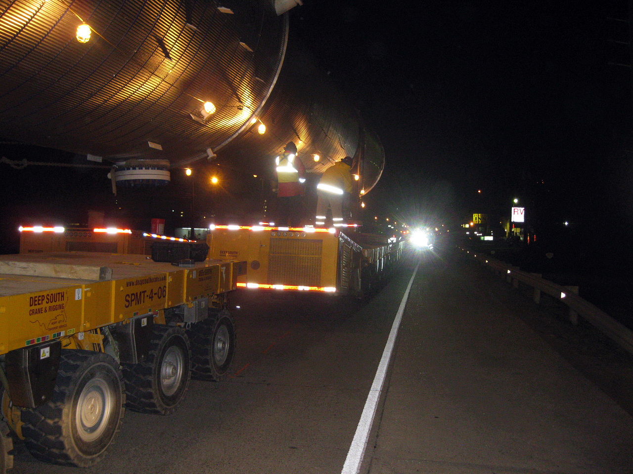 Heavy Transport at Night