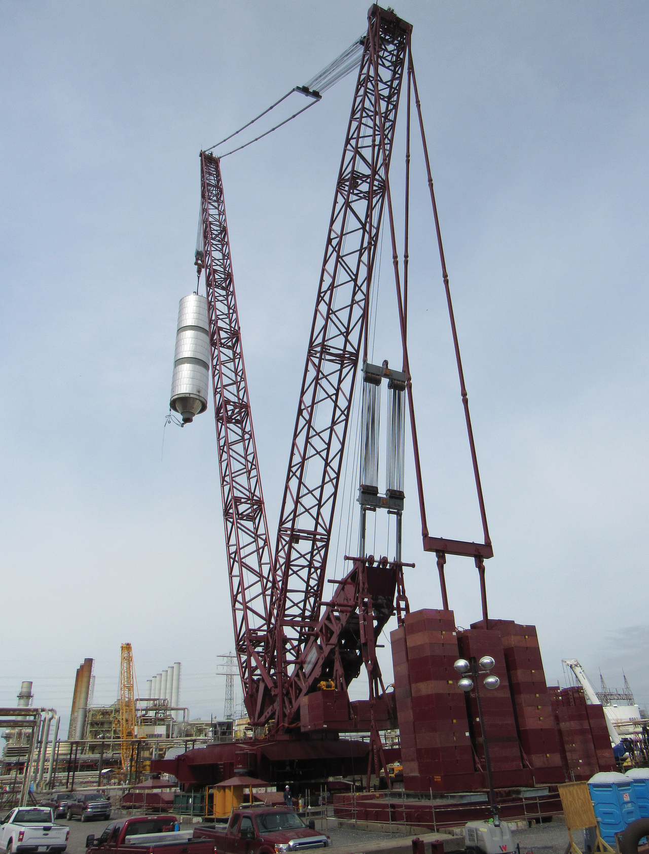 Large Crane Lifting Coke Drum